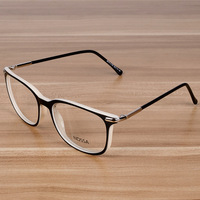 Fashionable Flat Mirror Office White Collar Glasses Frame Glasses Can Be Equipped With Myopia Goggles