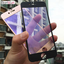 BONVAN For iPhone 6s plus 3D Anti Blue Mild Full Display Protector Tempered Glass For iPhone 6 6s 6plus Carbon Mushy Edge Movie