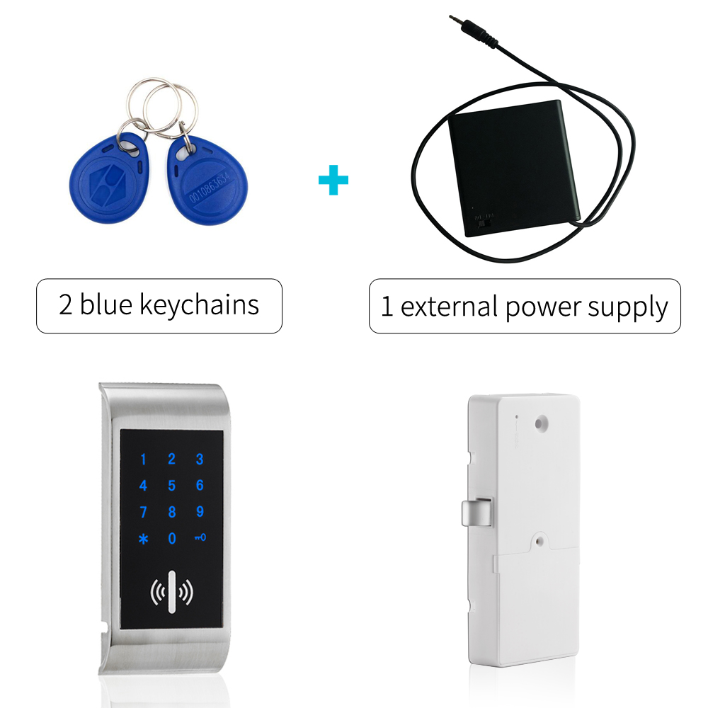 US $25 0 |keyless gym locker lock Electronic RFID changing room locker  locks rfid filing cabinet lock gym lock with wrist band-in Electric Lock  from