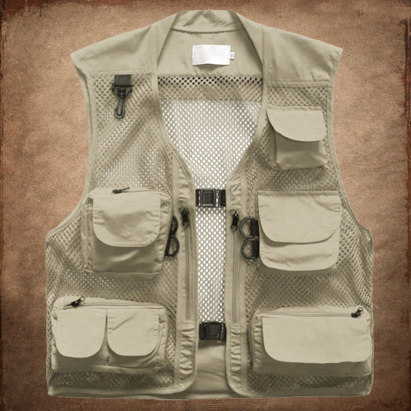 2018 Men Multi Pocket Camera Outdoor Travel Fishing Working Photography Vest UK pocket