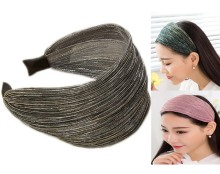 Womens shinny Mesh Wide Headband alice Hair Band bow WB-582(China) 39f87684309