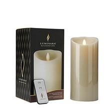 Luminara Fireless Paraffin Pillar Wax LED Christmas Candle In 5 Inch Free Remote
