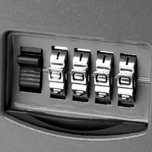 Image 3 - 4 cifre Combinazione di Password di Blocco di Sicurezza Scatola di Tasti Scatola di Immagazzinaggio Parete di Sicurezza Scatole Organizzatore Serrature Cifre Serratura A Combinazione