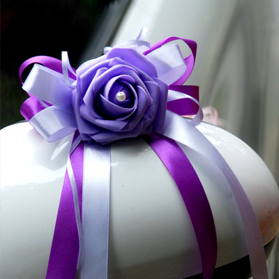 20 Kinds Design Wedding Rose Ribbon Bow Simulation handmade flower Cake Gift Box /mirror /wedding birthday Car Decoration
