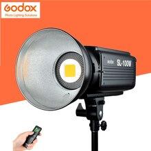 Godox sl-100y желтый версия 3000 К Studio непрерывной Светодиодные лампы видео Bowens Дистанционное управление для Камера видеокамера