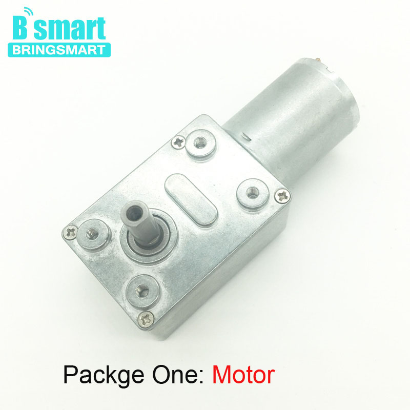цена на BringSmart JGY-370 Worm Motor DC Motor Turbo Drive High Torque 6V Mini Electric Gear Motor 12v Engine Reduction Motor Self-lock