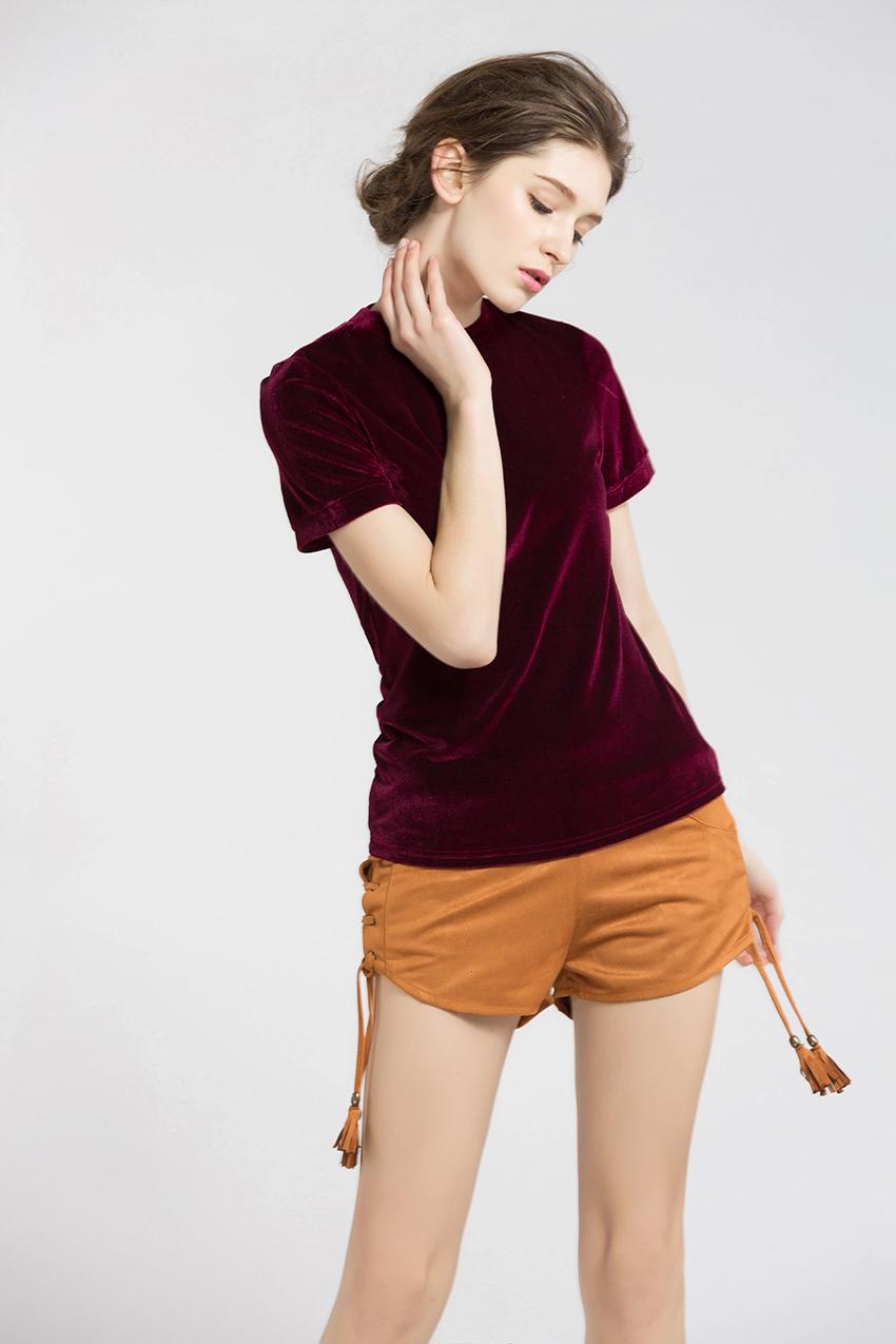 HTB1O9SXSXXXXXXWXVXXq6xXFXXXX - Summer Tops Short Sleeve Cotton Velvet T Shirt Women