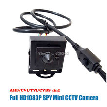 Supper mini Lens 1080P 2.0MP TVI/CVI/AHD/CVBS Signal Together with OSD and 0.001Lux 3-15M Distance
