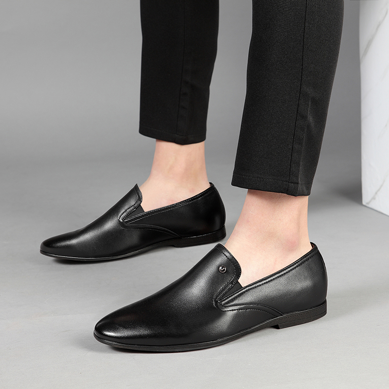 Casual Qualité Habillées Cuir Microfibre De Mocassins Black Printemps Chaussures Supérieure Marque Nouveauté Artificielle Automne 2019 Top Jackmiller Hommes En qvfwxfT