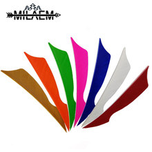 100pcs 4 inch Archery Turkey Feather Shield Feathers Fletching Carbon /Wood Bamboo Arrow Shaft Shooting Accessories
