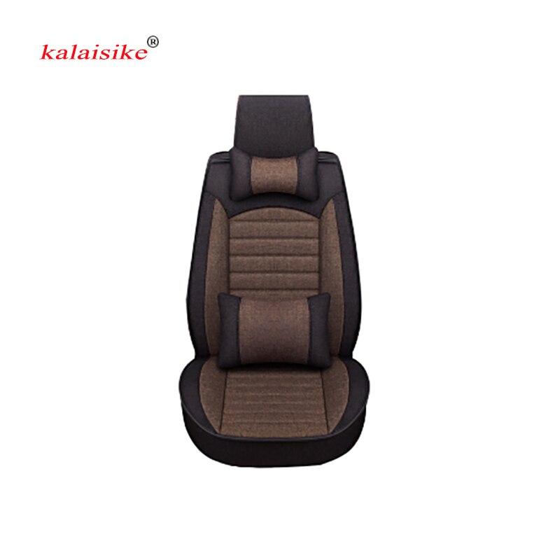 Kalaisike Flax Universal Car Seat covers for Volkswagen all models polo golf tiguan Passat jetta Phaeton touareg Phaeton phideon