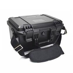 Plástico sellado impermeable equipo de seguridad caja de herramientas de instrumento portátil caja equipo de secado al aire libre con esponja