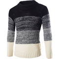 2017 Mens Sweaters Pullover  New Brand Winter Striped Quality Men Casual Cotton Male Wool Sweater Fashion Pull Pulover Clothing