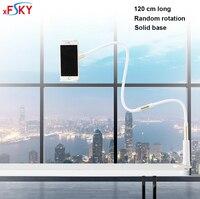 Xfsky新しいabsアルミ合金白屈曲可能なデスクトップ電話holde展示スタンド付きユニバーサル電話360度回転クリッ