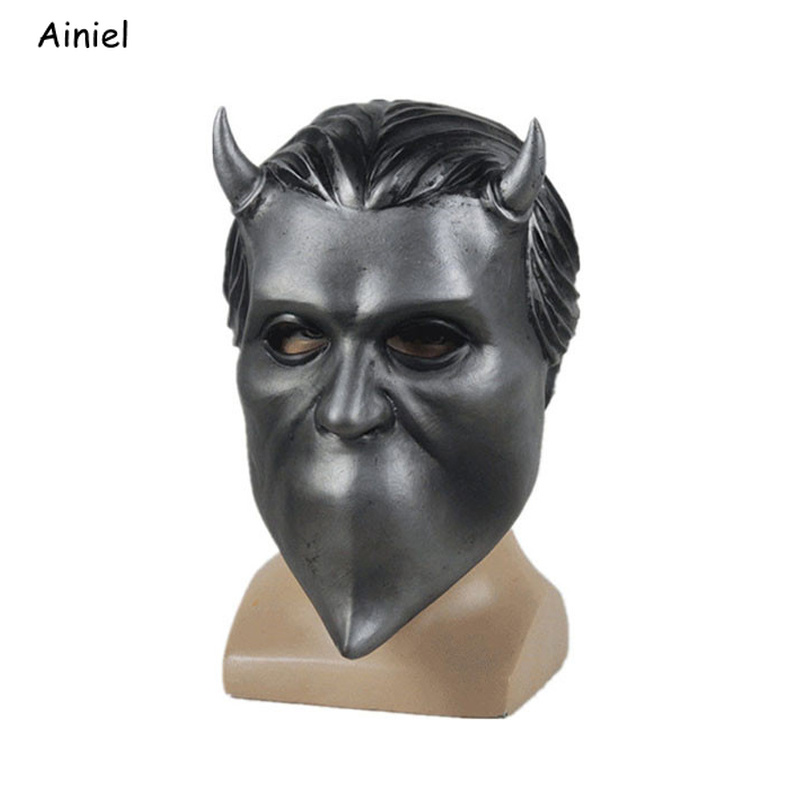 Ghost Bc Band Nameless Ghoul Latex Mask Adult Cosplay Costume Funny Scary Full Face Masks Prop Halloween Party for Men Women