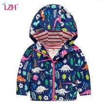 LZH 2019 Autumn Baby Boys Jacket Coat Kids Hooded Waterproof Raincoat Coat Jacket For Boys Windbreaker