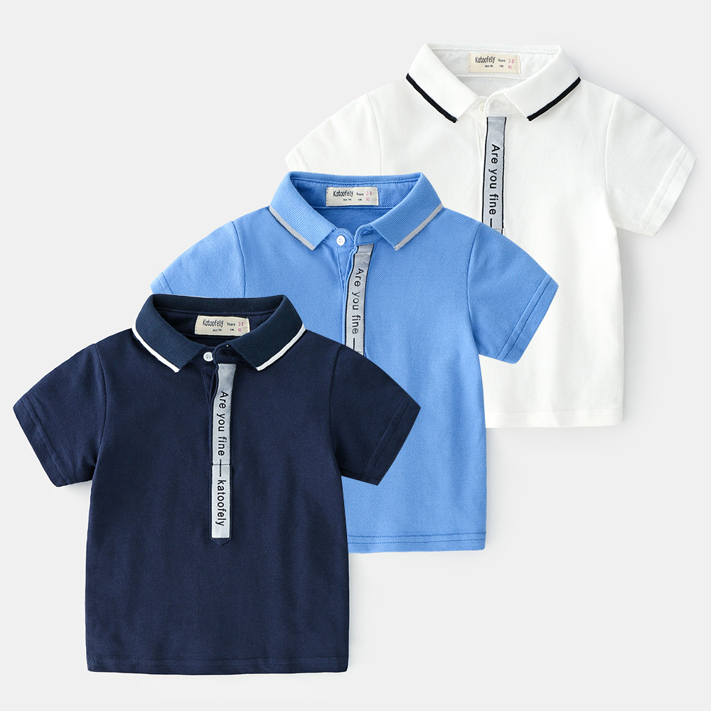 Summer Polo Kids Shirts Polo Shirt Short Sleeve Boys Cotton Polo Shirts Letter Kids Tops Baby Shirt For Kids