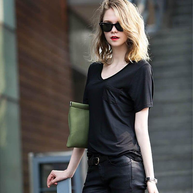 Plus Ukuran perempuan Tops Mode O-neck Lengan Pendek Longgar T-shirt musim  panas Kemeja Kasual Padat Modal Tee Femme Hot Sale Baru pendatang 716aa0d2f9