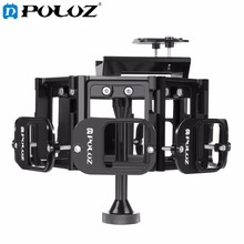 PULUZ 8 in 1 All View Panorama Frame CNC Aluminum Alloy Protective Cage with Screw for GoPro HERO5