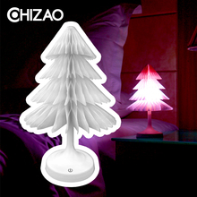 CHIZAO Christmas Tree LED Decorative lighting Holiday lights Table lamp Multiple color switching DIY installation USB or Battery