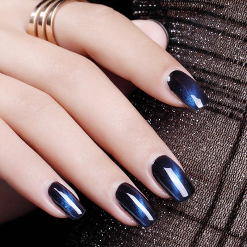 Verntion Nail Design 24 Pieces Magnetic Cat Eye Gel Nail Polish Soak ...