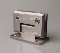 משלוח חינם באיכות גבוהה מוברש 90 מעלות פתוח נירוסטה 304 קיר הר זכוכית מקלחת דלת ציר יתר ציר HM158