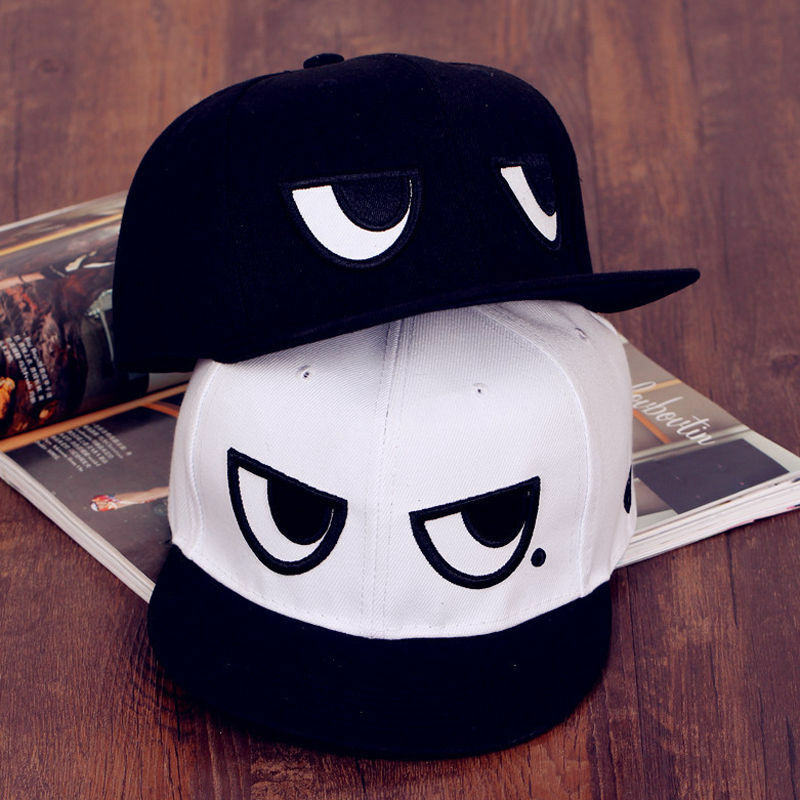 Unisex Angry Eyes Baseball Hip-Hop Adjustable Cap Peaked Sport Dance Hat Cool Boy Girl Hip Hop Caps