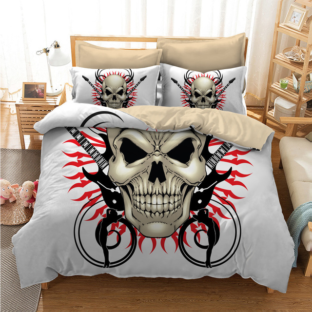 SKULL GUITAR 3D BEDDING SETS
