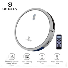 Amarey Robot Vacuum Cleaner Super Suction Clean For Home All Kinds Of Ground White Quiet A800