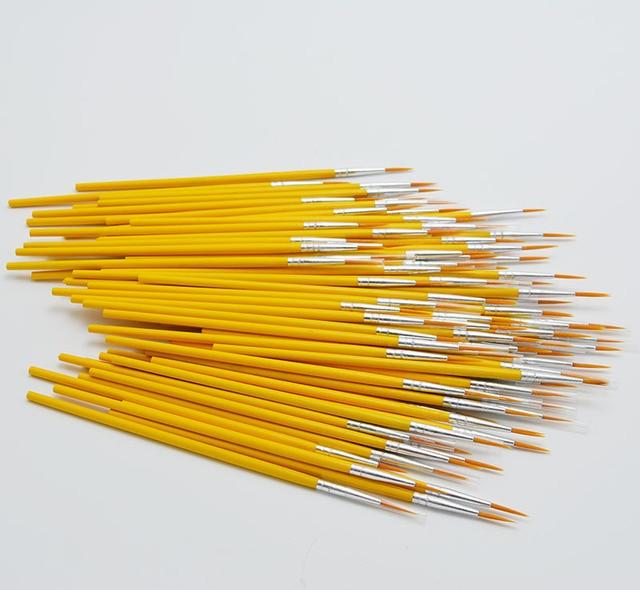 10pcs/set Long tail nylonhair hook line pen painting brush children DIY art supplies tool Art Stationery watercolor painting pen 4