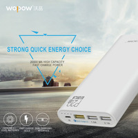 Wopow P20Q Universele Quick Lading 3.0 Grote Batterij Capaciteit 20000 mAh Power Bank Drie Usb-poort Opladen Draagbare quick lading