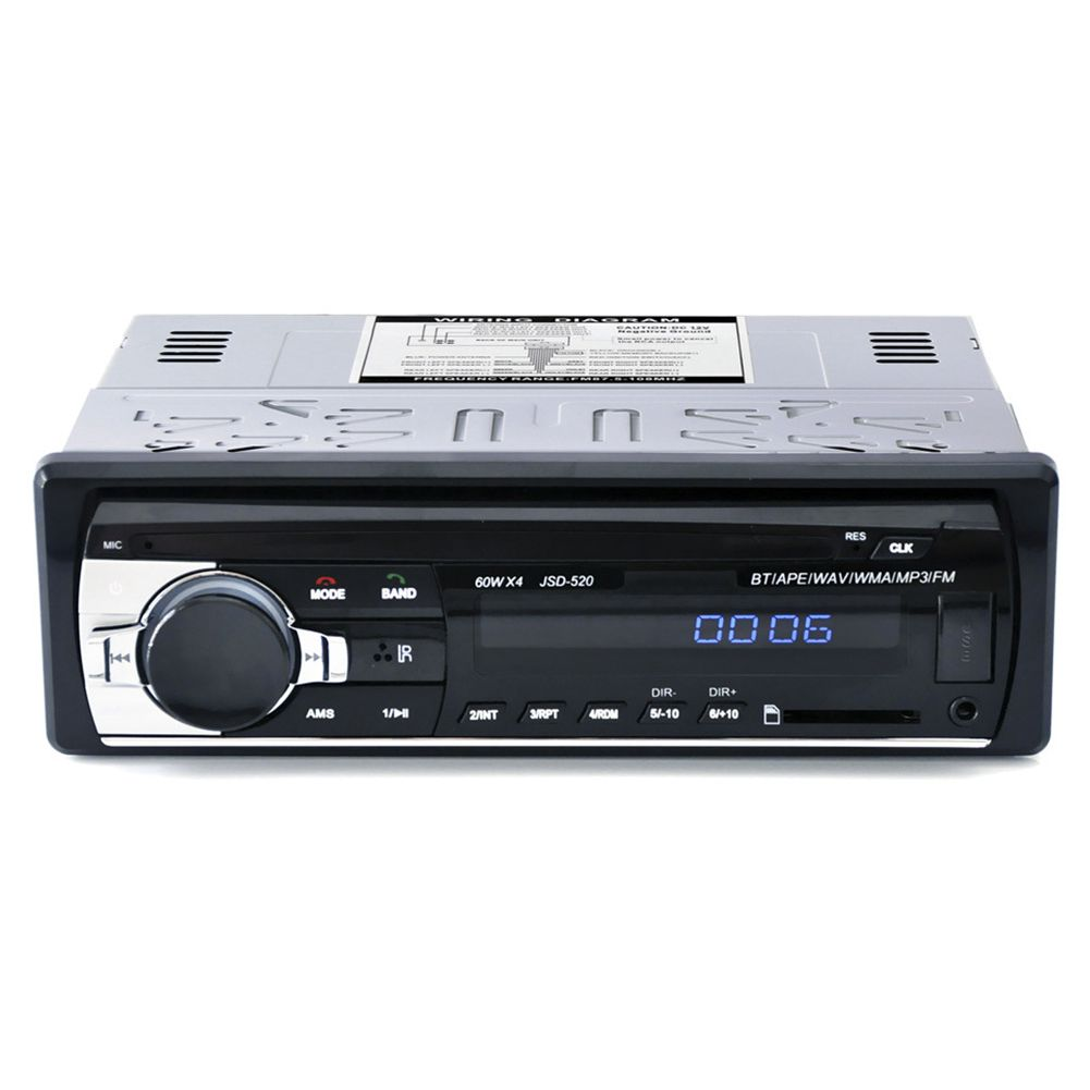 <font><b>Car</b></font> <font><b>Bluetooth</b></font> <font><b>Autoradio</b></font> Stereo <font><b>Radio</b></font> FM Aux Input Receiver <font><b>SD</b></font> USB JSD-520 12V In-dash <font><b>1</b></font> <font><b>din</b></font> <font><b>Car</b></font> <font><b>MP3</b></font> Multimedia <font><b>Player</b></font> image
