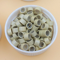 1000pcs Pack Micro Ring Links Beads Feather Hair Extensions Silicone Silicon Ring Bead Link 13 Blonde