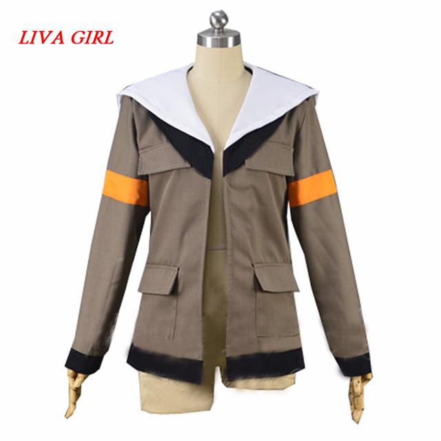 LIVA GIRL Voltron Legendary Defender Lance Cosplay Costume Lance Hood Jacket For Halloween Carnival Top Coat Custom Made