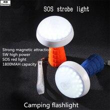 цена Multifunction 5W LED Work Inspection Flashlight Torch Lamp with The Bottom Magnet Usb Emergency Light Service SOS Strobe Light онлайн в 2017 году