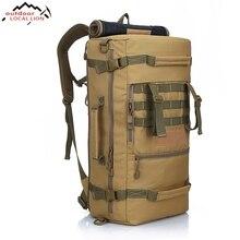 LOKALNE LEW 2017 męska Military Tactical Plecak Camping Piesze Wycieczki Plecak Podróży Plecak 50L Górska Plecak męska