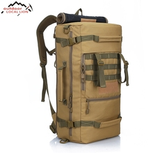REGIONAL LION 2017 Men's Military Tactical Backpack Camping Mountaineering Backpack Men's Hiking Rucksack Travel Backpack 50 L