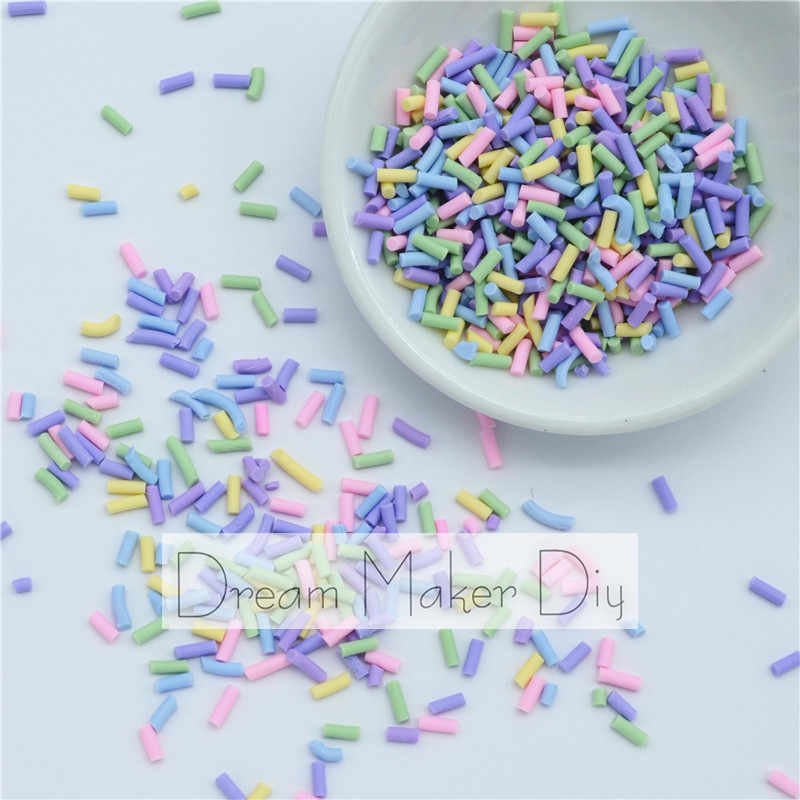 100g/lot Polymer Hot Clay Sprinkles Lovely confetti for Crafts Making, DIY Confetti