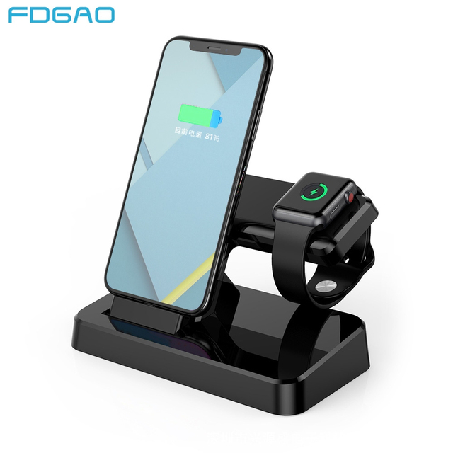 new product e4580 c5566 US $10.98 35% OFF FDGAO 2 In 1 Charging Dock Station Bracket Cradle Stand  Holder USB Charger for IPhone XS Max XR X 8 7 6S for Apple Watch 4 3 2 1-in  ...