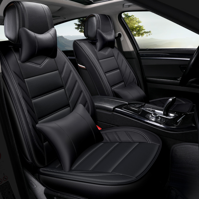 PU leather car seat cover auto seats covers for BMW 5 Series E39 E60 E61 F07 F10 F11 F18 525 530d g30 g31 e34 X1 E84 X3 X5 X6