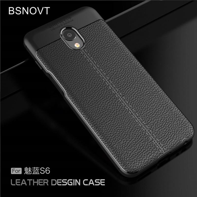 For Meizu M6S Case Soft Luxury Leather TPU Anti-knock Phone Meilan mblu S6 Funda BSNOVT