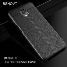 For Meizu M6S Case Soft Luxury Leather TPU Anti-knock Phone Meilan mblu S6 Funda BSNOVT