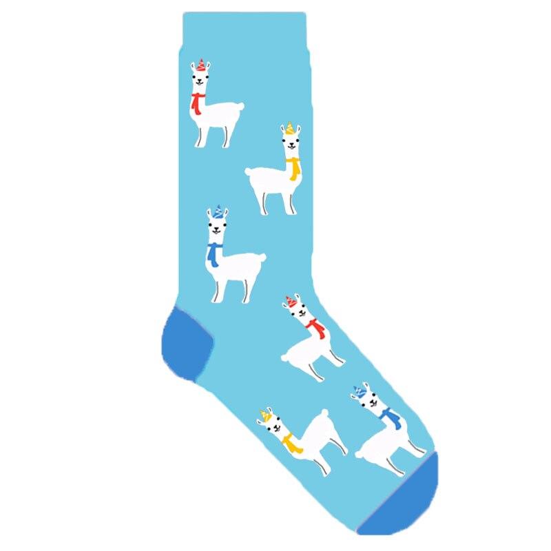 Alpaca socks Llama socks.Pink Socks.Womens socks.
