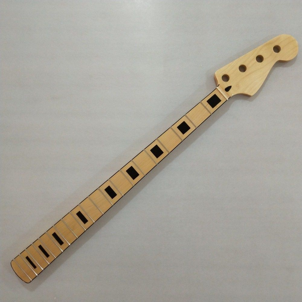 Maple 20 Fret Neck For Electric Jazz Bass Guitar Neck Parts Replacment title=