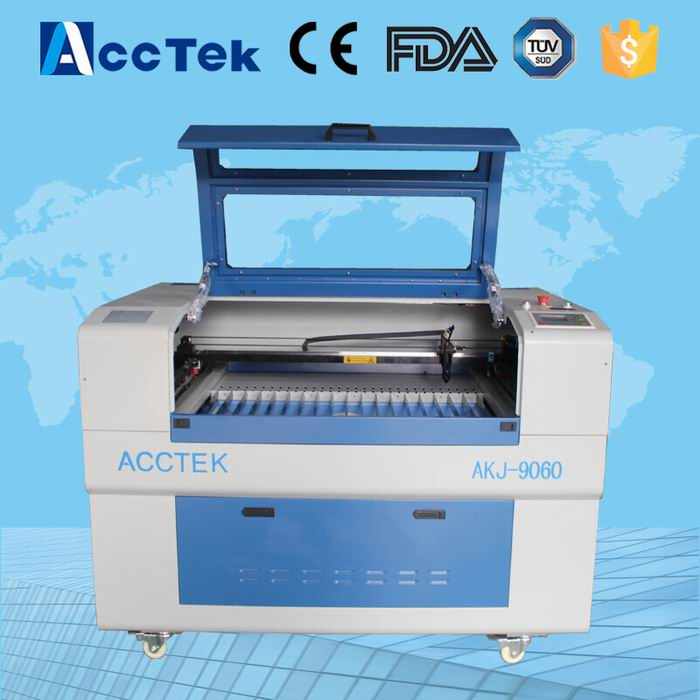 Acctek 6090 60w co2 laser cutting plotter /co2 fabric laser cutting machine/small size co2 laser engraving machine  acctek china 6090 co2 die board laser cutting machine co2 flatbed laser cutting machine