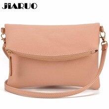 JIARUO Маленькая кожаная сумка через плечо для женщин, сумка-мессенджер, сумка на плечо, сумка, сумка с откидной крышкой, сумка-конверт с передним карманом