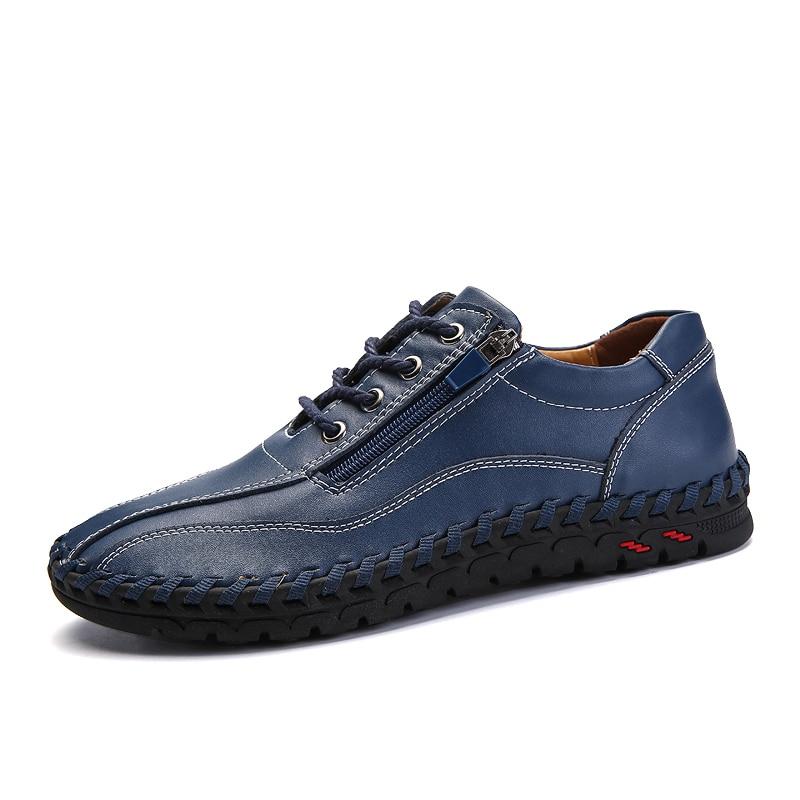3850 orange Hommes De Tête La Taille Marche Cuir Plus Appartements Large Sneakers marron Casual Bas D'été bleu En Chaussures Noir Adulte ZPXTkuOi