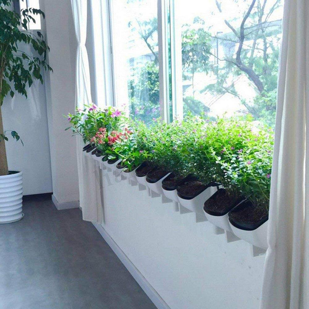 1 Piece 2-Pocket Vertical Growing Plant Flower Pot Garden Hanging Baskets Wall Balcony  Vegetable Plant Planter