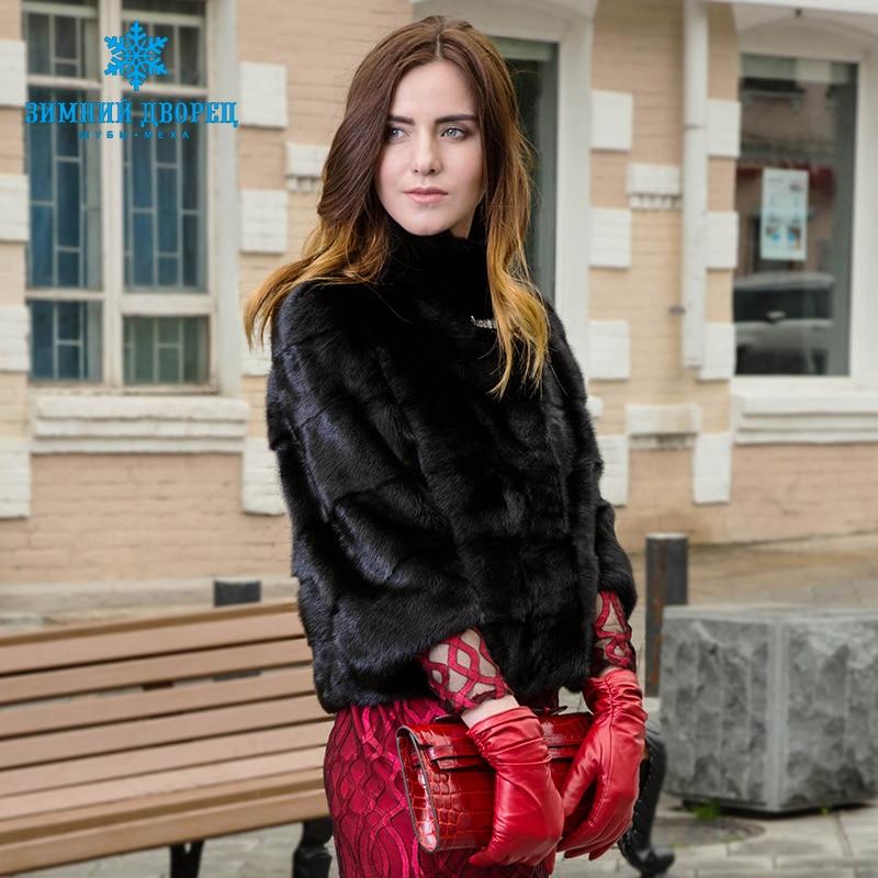 送料無料 ナチュラル女性の毛皮のジャケットミンクの毛皮のコート半袖毛皮のベストショート本物の毛皮のコートマンダリン襟 Princess Nazan
