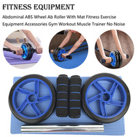 Abdominal ABS Wheel Ab Roller With Mat Fitness Exercise Equipment Crossfit Accessories Gym Workout Muscle Trainer No Noise